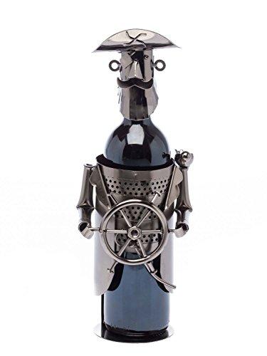 Contenitori del vino Wine Rack Bottle Holder metallo Nave pirata capitano