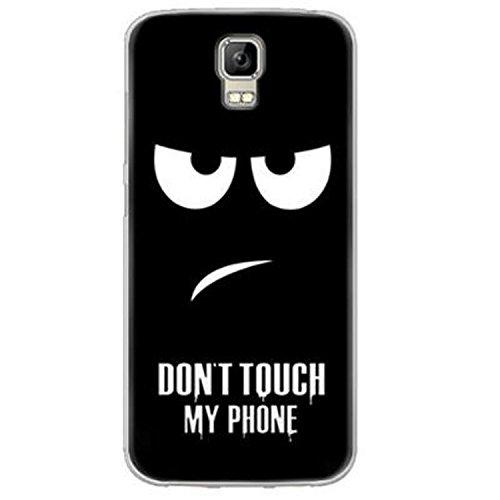 Yrlehoo Für UMI Rome/UMI Rome X 5.5 Zoll, Premium Softe Silikon Schutzhülle für MI Rome/UMI Rome X 5.5 Zoll Tasche Case Cover Hülle Etui Schutz Protect, Donot Touch My Phone