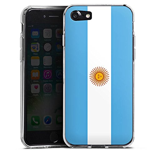 Apple iPhone X Silikon Hülle Case Schutzhülle Argentinien Flagge Argentina Silikon Case transparent