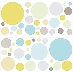 Wandtattoo Kinderzimmer Wandsticker Set Kreise in modernen Pastellfarben Stück