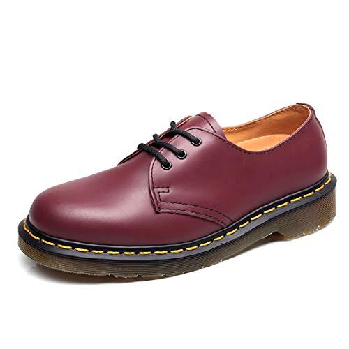 Orktree Unisex-Erwachsene Chelsea Boots Damen Stiefel Wasserdicht Kurz Stiefeletten Schuhe Herren Combat Worker Boots,Rot Low-top,38 EU (Combat Schuhe Für Frauen)