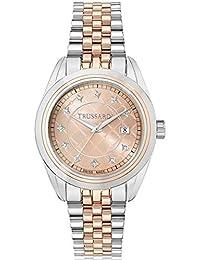 Trussardi Reloj Analógico para Mujer de Cuarzo con Correa en Acero Inoxidable R2453103502