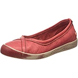 Softinos Ilma washed, Damen Geschlossene Ballerinas, Rot (Red), 36 EU ( )