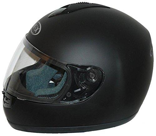 Protectwear V190-ES-L Motorradhelm, Größe L, Einfarbig Schwarz Matt