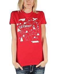 Maroon 5 - Les montagnes de la femme Tee shirt en rouge -