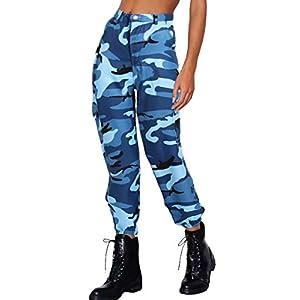 Lantch Damen Hosen Camouflage Casual Jogginghose Sporthose Military Freizeithose Streetstyle