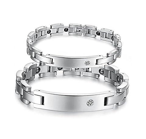 Mens Womens Hämatit Leistungsstarke magnetische Armband für Arthritis Schmerzlinderung oder Sports Related Therapie Paar- Armband
