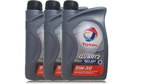 Total Quartz, olio per motore Ineo ECS 5W30, 3 contenitori da 1 litro (etichetta in lingua italiana non garantita)