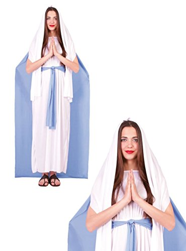 GUIRCA SL... - Kostüme Maria / Madonna Damen, Farbe Lila und Weiß, Einheitsgröße, - Maria Und Josef Krippe Kostüm