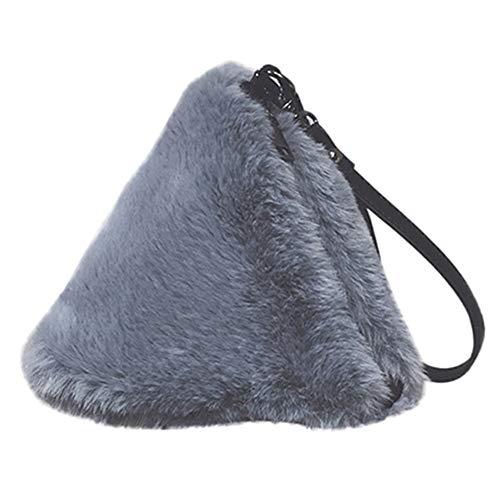 Albert Plüsch (holitie Mode Plüsch Handtasche Kette Tasche Schultertasche Messenger Bag Abend Paket Vielseitige Schulter Kuriertasche Lässige Crossbody Tasche aus)