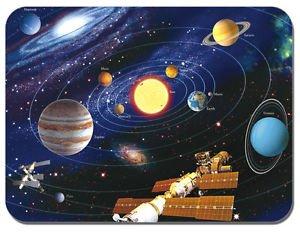 Preisvergleich Produktbild Map of the Solar System Mauspad. Die Planeten Astronomie Maus Pad