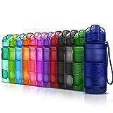 ZOUNICH Sport Trinkflasche BPA frei Auslaufsicher Wasserflasche 400ml/500ml/700ml/1L Kunststoff Geeignet Sporttrinkflaschen für Joggen,Fahrrad,Kinder Schule,öffnen mit...