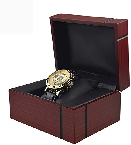 DPPD Wood Watch Box Present Case for Bangle Jewelry Ring Earrings Wrist Watch Jewelry Storage Gift Box Red