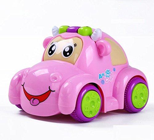 Achun Kreative Sound Kleinkind Spielzeug Mini Baby Spielzeug Multifunktions Tier Projektion Auto Tröster Maschine Story Telling (Rosa, Kuh) (Tröster Mini Set)