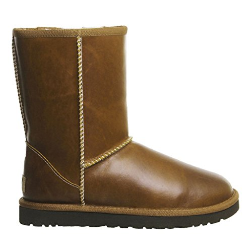 ugg-australia-womens-classic-short-brown-leather-boots-40-eu