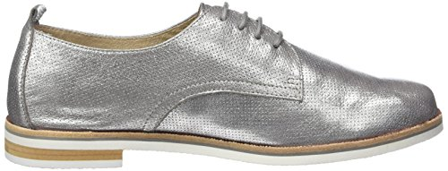 Caprice 23200, Scarpe Stringate Basse Oxford Donna Grigio (Grey Metallic)
