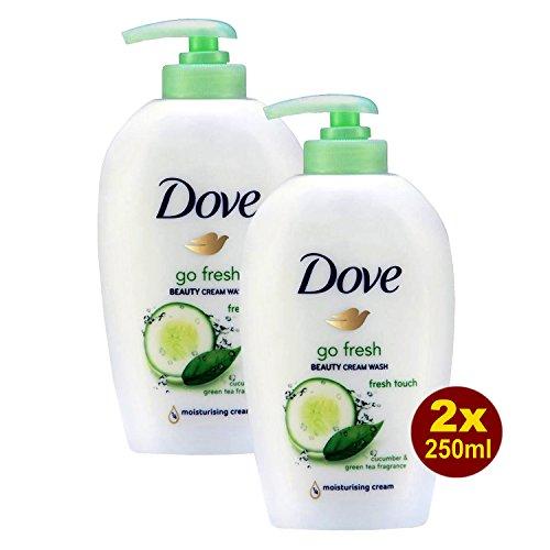 Dove Go Fresh Touch Beauty Cream Wash 2x 250ml - Handwasch-Lotion mit Gurken und Grünem Tee-Flagrant (Touch Cream Fresh Beauty)