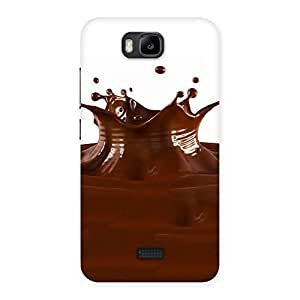 Chocolate Splash Brown Back Case Cover for Honor Bee