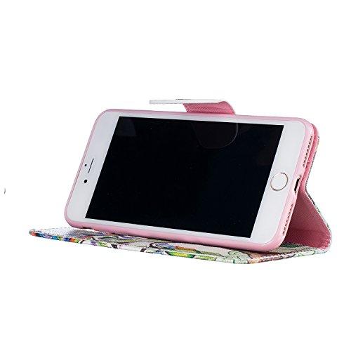 Etui IPHONE7PLUS, Frlife  Housse Portefeuille Coque Protection pour IPHONE7PLUS, en PU Cuir, avec Stand et Rangement Cartes, Case Cover couleur 18