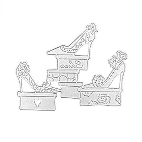 Andouy Schablonen Stanzbögen Stanzformen Scrapbooking Metall Sterben Für Big Shot Schablone DIY Album Papier Karte Dekor Handwerk(D,High Heels)