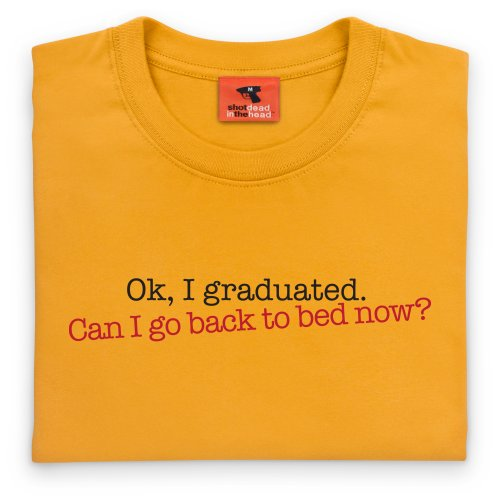 Graduated T-Shirt, Damen Gelb