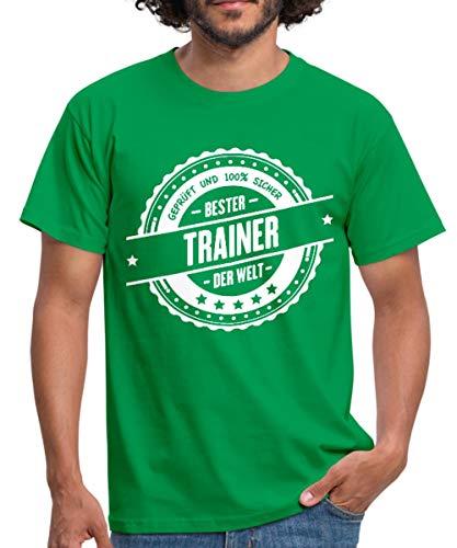 Spreadshirt Bester Trainer Der Welt Auszeichnung Männer T-Shirt, XXL, Kelly Green