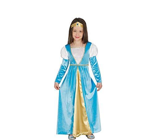 Guirca Mittelalterliches samtiges Edles Prinzessin Kleid Mädchenkleid Märchenkostüm Kostüm Gr 110-146 , Größe:134/140 (Mittelalterliche Kostüm Prinzessin Mädchen)