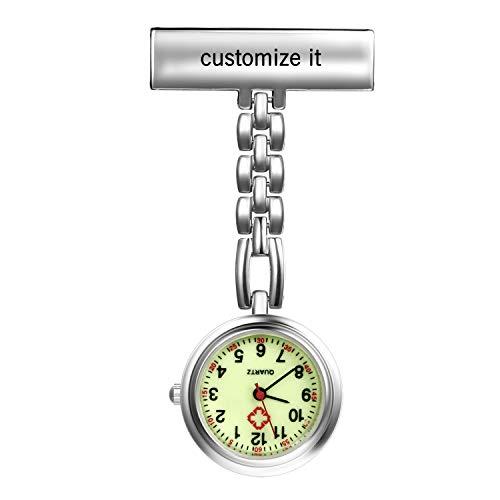 LANCARDO Uhren, Krankenschwester Armbanduhr FOB-Uhr Damen Taschenuhr Analog Quarzuhr aus Legierung LCD037P015