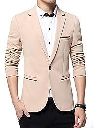 DAZISEN Blazer pour Homme - Vestes de Costume élégantes Slim Fit Dîner Fête  Smoking Blazer 0761b265028
