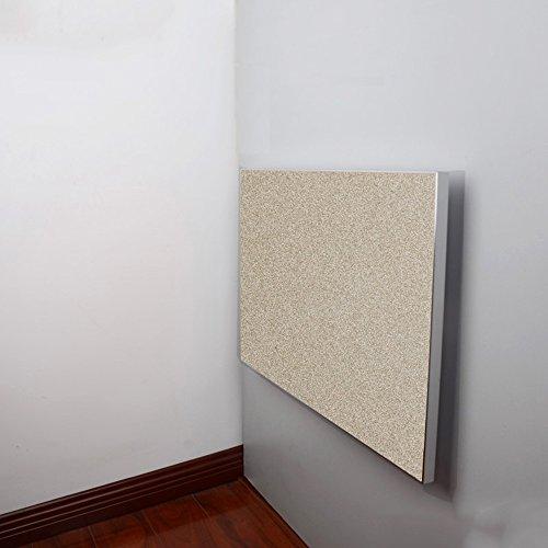 FEI Table pliante murale de feuille de baisse de Tableau, table pliante de cuisine dinant le bord en alliage d'aluminium de bureau (Couleur : Champagne, taille : L50CM*W50CM)