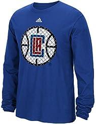 """Los Angeles Clippers Adidas NBA """"Tech Quilt"""" Premium Print L/S Men's T-Shirt Chemise"""