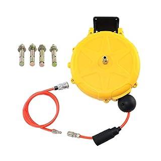AUTOOL Kompressor Schlauchtrommel mit Schlauch Mini Druckluftschlauchtrommel 10m 3/8 zoll Druckluftschlauchtrommel Aufrollautomatik für Auto, Garten