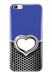 Noise Oppo A57 Cover, Printed Cover, Oppo A57 Back Cover / Patterns & Ethnic / Metal Love Heart Design - (GD-1460)