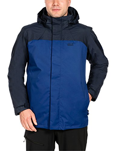 Jack Wolfskin - Echo Bay Men - Giacca 3 in 1, uomo, Uomo, ECHO BAY MEN, Deep Sea Blue, XXL