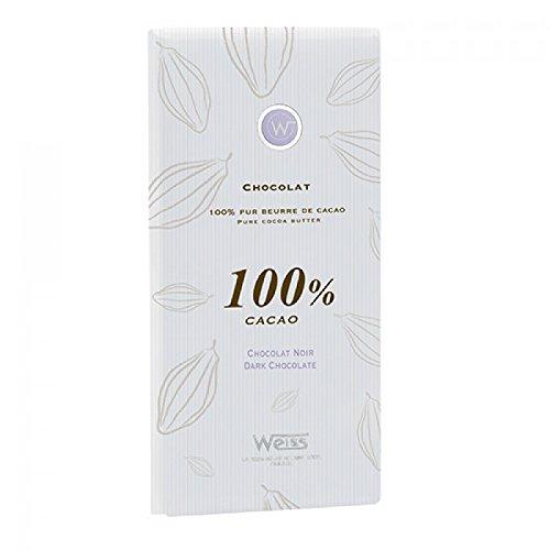 Tablette chocolat noir 100% cacao - 100g
