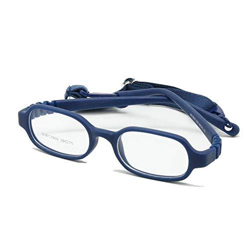 EnzoDate die Mädchen und Jungen der optische Gläser mit Gurt No Screw, ein Stück von Kinder Brille, Größe 39/15