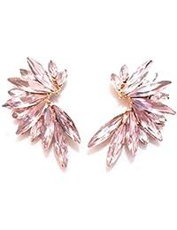 5338d7063fa1 Pendientes Cristales Colores Mujer Pendientes Fiesta Boda Medio Aro