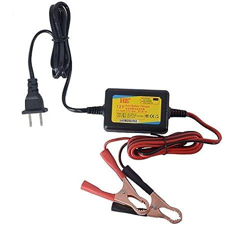 LIUYU 12V 1A Chargeur de batterie à base d'acide plombé Chargeur de batterie automatique Voiture électrique Vélo Quad Van Batterie moto Batterie Chargeur