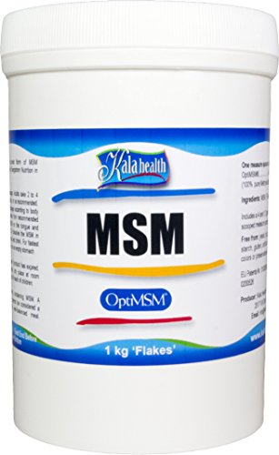 Kala Health - OptiMSM (Methylsulfonylmethane) MSM Powder Coarse Flakes  (Crystals) 1000g, pure MSM Supplement, produced in the United States of