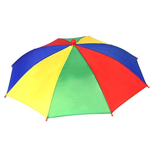 Sombrero de Paraguas Multicolor Sombrero de Sombrilla de Arco Irís al Aire Libre Gorro de Paraguas Sombrero de Sombrilla para la Pesca ( 3 Colores Aleatorios )