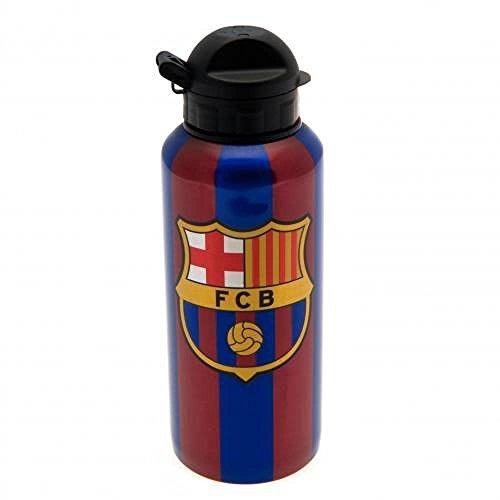 Geschenk-Set, offizielles FC Barcelona Trinkflasche aus Aluminium-Ein tolles Geschenk für Fußballfans (Barcelona-geschenk-set)