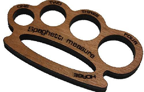 Medidor de espaguetis en forma de nudillera