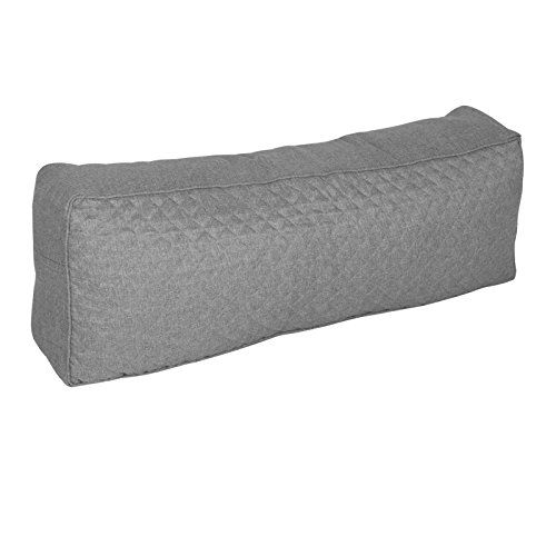 WOLTU Palettenkissen Rückenkissen mit Reißverschluss abnehmbar waschbar Sofa Couch Rückenlehne Outdoor 120x40x20cm Grau SKN005gr