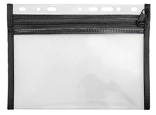 Veloflex VELOBAG XXS Reißverschluss Tasche A5 quer mit Timerlochung (5er Spar-Pack, Schwarz) (5 Reißverschluss Mit Taschen)