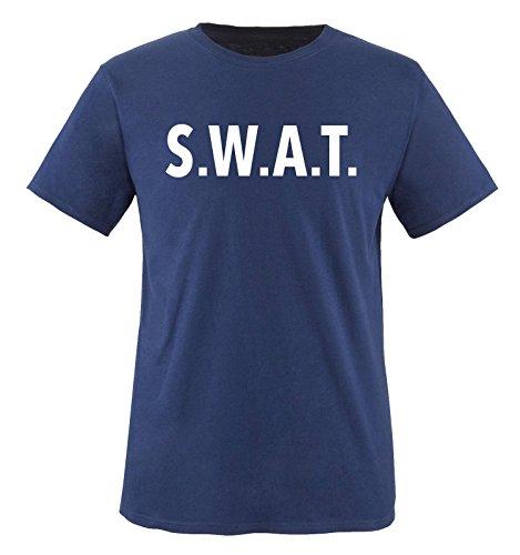 Comedy Shirts - SWAT KOSTÜM - Kinder T-Shirt - Navy / Weiss Gr. (Kostüme Beste Freundin Katze)