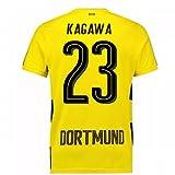2017-18 Borussia Dortmund Home Short Sleeve Football Soccer T-Shirt Trikot (Kids) (Shinji Kagawa 23)