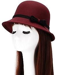MAOXZI Sombrero del Elegante con Arco Algodón Más Caliente Casual Gorro  Retro Invierno Otoño para Mujer cc6ea17012f