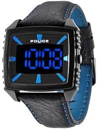 Police  PL13890JPGYB/02 - Reloj de cuarzo para hombre, con correa de cuero, color negro