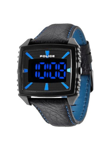 Police Herren-Armbanduhr Digital Quarz Leder PL.13890JPGYB/02