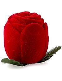 Sanwood Rose Schmuck Box Hochzeit Ring Geschenk Fall Ohrringe Aufbewahrung